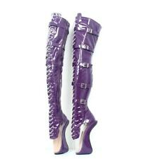 Sexy Extreme High Heel Punk Heelless Ballerina Ballet Over Knee Thigh High Boots