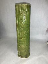 Pottery Pitcher Vase Green Bamboo Shoot Art Pottery Tribal
