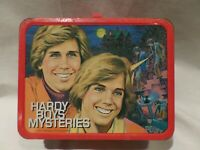 """VINTAGE 1977 """"HARDY BOYS MYSTERIES"""" METAL LUNCH BOX BY THERMOS"""