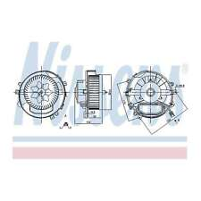 Fits VW Passat 2.0 TDI 4motion Genuine Nissens Interior Heater Blower Motor Fan