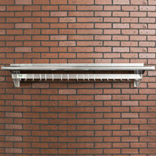 "12"" x 60"" Stainless Steel Wall Pot Rack Shelf Hook Commercial Restaurant Kitchen"