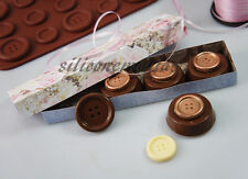 HUGE Chocolate Coat Button Buttons Silicone Mould Mold Cookie Pan Resin Soap Wax