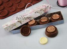 Enormi Bottoni Bottone Cappotto di Cioccolato Stampo in Silicone Stampo Biscotto Pan sapone resina cera