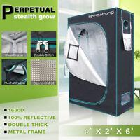 Mars Hydro 4'x2'x6' Grow Tent Kits 100% Reflective for Hydroponics Indoor Plant