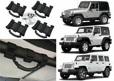 4pc Heavy Duty Roll Bar Grab Handles For 1995-2017 Jeep Wrangler New Free Ship