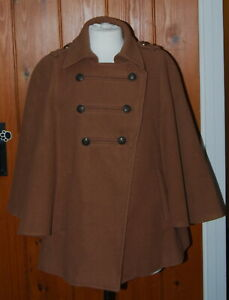 Dorothy Perkins, Ladies, Retro, Military, Casual, Cape, Coat, size 12 (40)