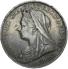 1900 LXIV CROWN - VICTORIA BRITISH SILVER COIN - NICE