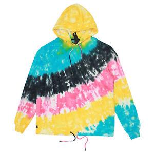 Mens 10 Deep Flashback Pullover Hoodie Multi-color Tie Dye