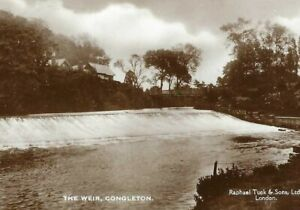 CE-062 Th Weir, Congleton, Real Photo RPPC Raphael Tuck divided Back Postcard