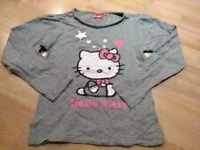 Langarmshirt LA-Shirt Mädchen grau HelloKitty Gr. 146/152