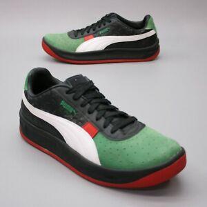 Puma Men's 10 GV Special + LUX Guillermo Vilas Black Green Sneakers 368151-02