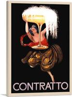 ARTCANVAS Contratto Champagne Liquor 1922 Canvas Art Print by Leonetto Cappiello