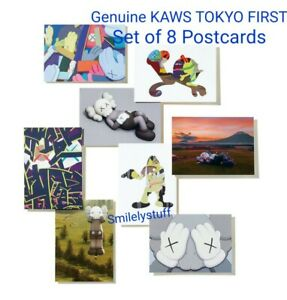 Brand New Genuine KAWS TOKYO FIRST Limited Edition HOLIDAY 8 POSTCARDS Sealed