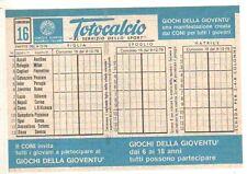 Schedina Totocalcio concorso n 16 del 9/12/1979