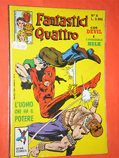 FANTASTICI QUATTRO -4-DEVIL HULK-  star comics-  N°6 a - ANNO 1989-  lire 1,500
