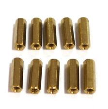 10 pcs M3 x 15mm Brass Hex Standoff Pillar Female - Female Electronic Accessorie