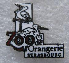 Pin's ZOO Animaux L'ORANGERIE STRASBOURG Cigogne Alsace  #D4