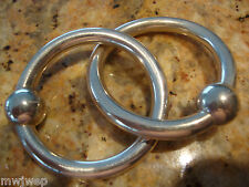 TIFFANY & CO. STERLING DOUBLE CIRCLE BABY RATTLE / TEETHING RING