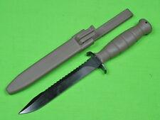 Austrian Austria 1981 GLOCK Military Saw Back Fighting Knife & Scabbard