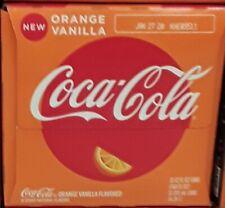 Orange Vanilla Coca Cola full 12 pack 355ml cans freshly purchased per order