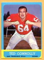 1963 Topps  #139 Ted Connolly (EM) -- San Francisco 49'ers
