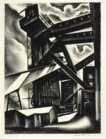 Howard Cook : Edison Plant : 1930 : Archival Quality Art Print