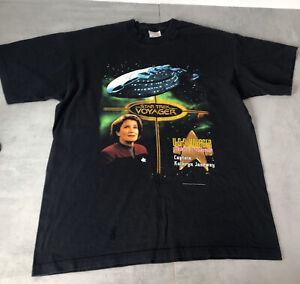 Star Trek Voyager T Shirt Kathryn Janeway 2000 collectable Screen stars label