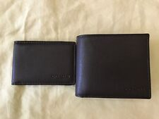 NEW Auth Coach F74991 Men's Compact ID Wallet in Sport Calf Leather Mahogany
