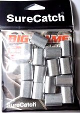 15 x 5.2mm SURECATCH BIG GAME ALUMINIUM CRIMPS FISHING SLEEVES FOR MONO & WIRE