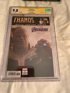 Thanos #1 CGC 9.8 SS  Josh Brolin  Movie photo variant cover