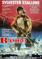 Sylvester Stallone RAMBO First Blood (1982) REPRO d.Dt. Orig.Plakates A1 GEROLLT