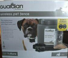 Guardian Wireless Pet Fence for 8lb + Dogs. Comes With Collar, Manual & Flags!