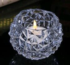 12 x Crystal Cut Glass Tealight Table Candle Holders Home Decor/Weddings/Favours