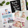 Personalised Photo Thank You Cards ~ Baby Boy or Girl / Birthday / Christening.