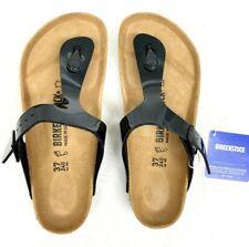 Birkenstock Women's Gizeh Thong Sandal,Graceful Black 37M (Women US 6-6.5)