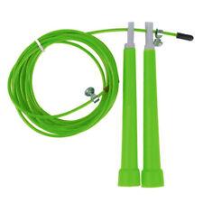 Stahl Springseil einstellbare Crossfit Fitness Geraete Gras Gruen G8T4 D0S0