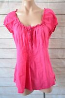 ESPRIT top sz 12 medium pink shorts sleeve tunic blouse