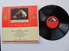 """Concierto para violín de Elgar 12"""" Lp Jascha Heifetz lso Sargent Alp 1014 primera edición Reino Unido años 50"""