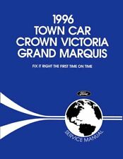 Oem Repair Shop Manual Bound For Mercury Grand Marquis 1996