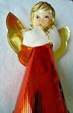 Vintage Christmas Angel - Tree Topper Or Stand Alone - Soft Plastic, Foil, Felt