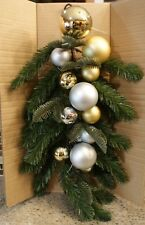 New Pottery Barn ORNAMENT PINE SWAG - Gold & Silver - 24 Inch Long