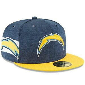 [11763003] Mens New Era NFL 2018 Sideline Home Official 59Fifty Fitted Chargers