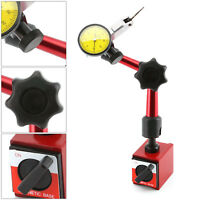 Precision Dial Test Indicator DTI Gauge + Flexible Magnetic Base Holder Stand