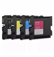 Sublimation GC31 4PCS Ricoh Ink Cartridge for GXe2600/e3300/e3300N/e3350N/e5050N