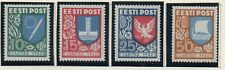 Estonia Sc B46-49 1940 Coats of Arms charity stamp set mint