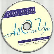 FREDDIE JACKSON All over you INSTRUMENTAL PROMO radio DJ CD single 1990 MINT