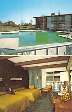 Danvers Massachusetts King Grant Restaurant Pool View Vintage Postcard K38265