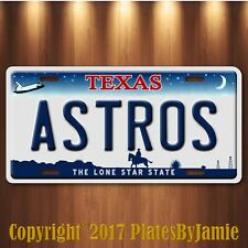 Houston Texas ASTROS World Series 2017 Champions Baseball Team License Plate Tag
