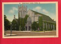TYRONE PA PENNSYLVANIA PRESBYTERIAN CHURCH OLD STREET LAMPS POSTCARD