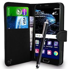 Black Wallet Case PU Leather Book Cover For Huawei P10 Lite Mobile Phone